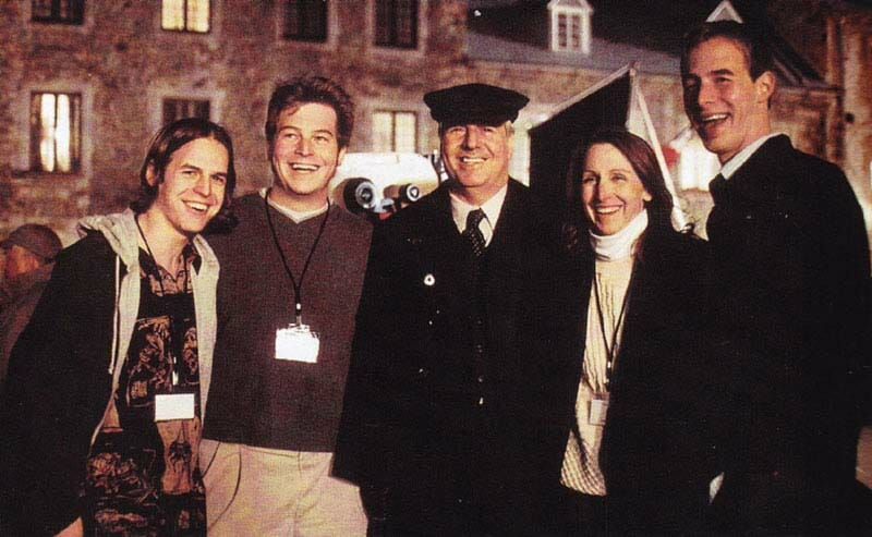 """Frank Abagnale and family at the Place Royale, Quebec City, Canada on the set of  the movie """"Catch Me If You Can"""""""
