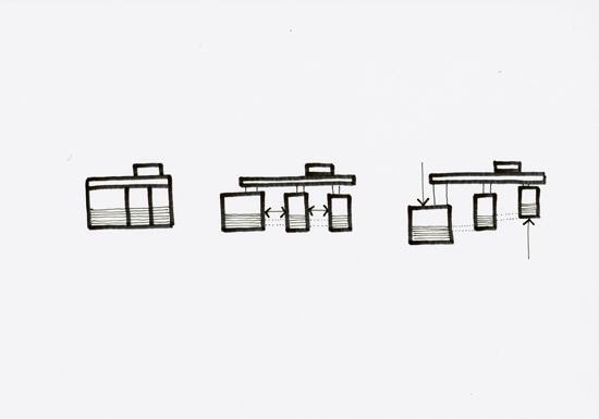 Diagram Showing Staggered Rooms