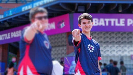 Bugha at Fortnite World Cup Championship in New York on July 27, 2019