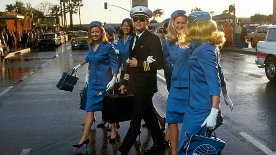 A scene from the movie 'Catch Me If You Can' where Leonardo DiCaprio acting as Frank William Abagnale Jr.