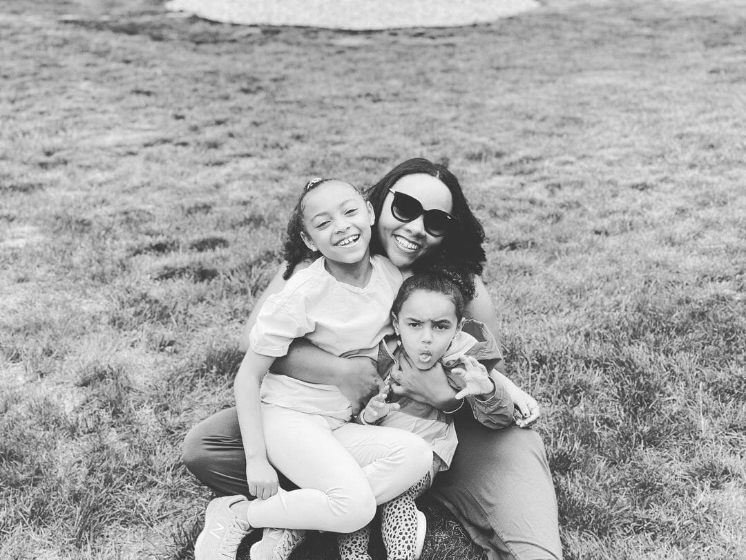 Shayanna Jenkins With Her Two Daughters